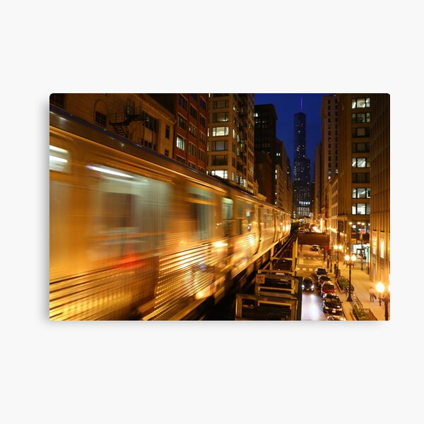 Chicago Elevated Train Canvas Print