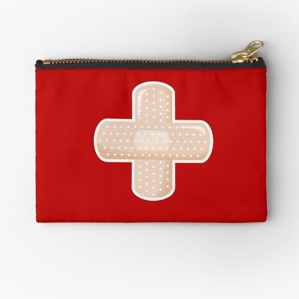 First Aid Kit Plaster - Red Zipper Pouch