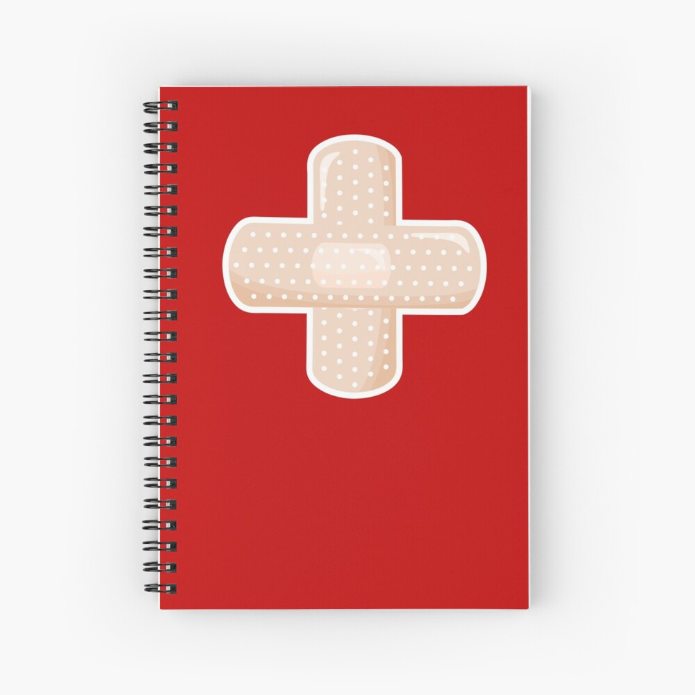 First Aid Plaster Spiral Notebook
