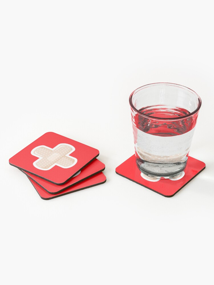 Alternate view of First Aid Plaster Coasters (Set of 4)