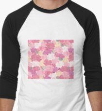 Blushing peonies Men's Baseball ¾ T-Shirt