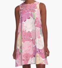 Blushing peonies A-Line Dress