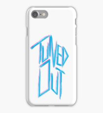 Tuned out -  Neon 80's punk iPhone Case/Skin