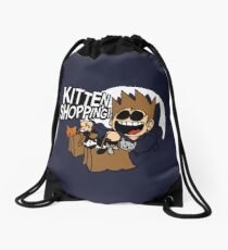 EDDSWORLD KITTEN SHOPPING Drawstring Bag
