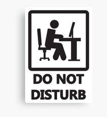 Gaming - DO NOT DISTURB Canvas Print