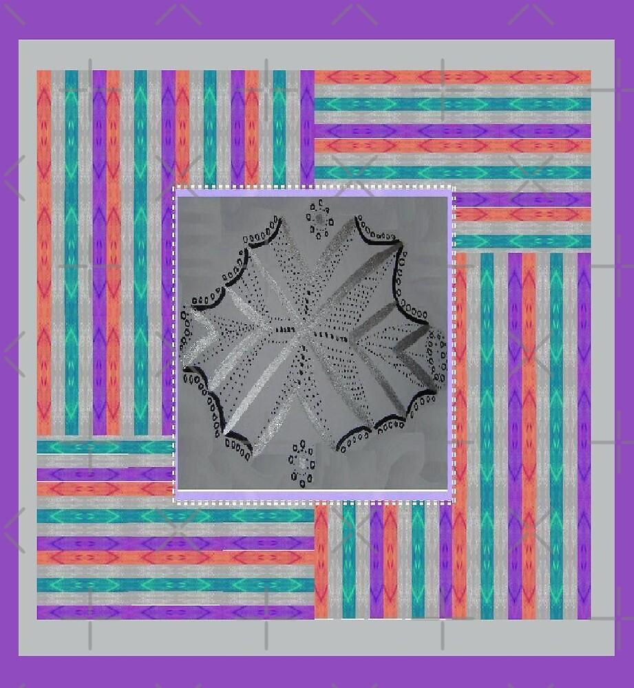 Silver Cross in Stripes by KazM
