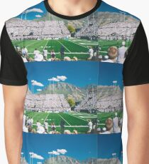 Retro American Football Match Photograph Graphic T-Shirt