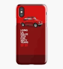 Fiat 500 60th Anniversary artwork iPhone Case/Skin
