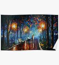MISTY MOOD limited edition giclee of L.AFREMOV painting Poster