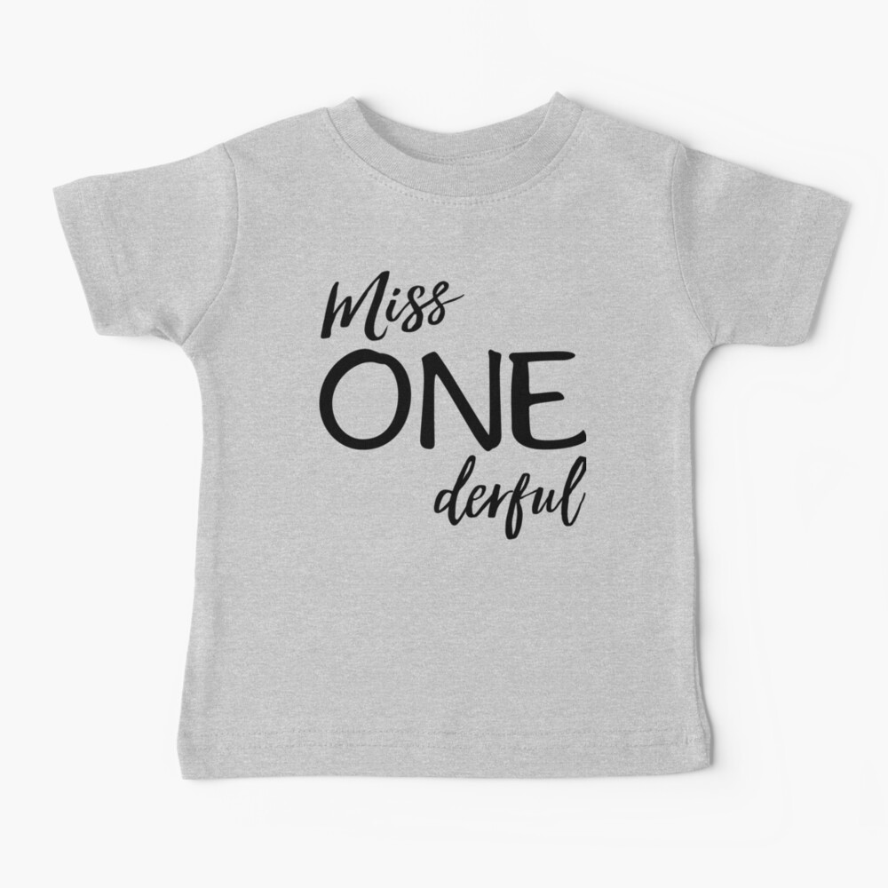 Miss. Onederful Baby T-Shirt