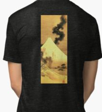HOKUSAI, The Dragon Of Smoke Escaping From Mount Fuji Tri-blend T-Shirt