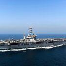 Flugzeugträger USS John C. Stennis durchquert den Arabischen Golf. von StocktrekImages