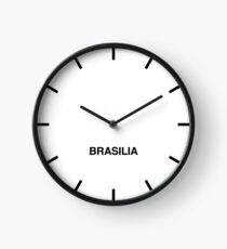 Newsroom Wall Clock Brasilia Time Zone Clock