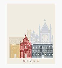 Siena skyline poster  Photographic Print