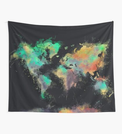world map 107 #worldmap #map Wall Tapestry