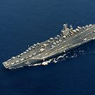 USS Abraham Lincoln durchquert den Indischen Ozean. von StocktrekImages