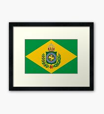 Empire of Brazil flag Framed Print