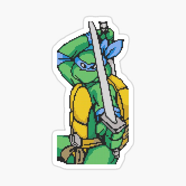 TMNT Leo, Pixel Arcade Edition Sticker