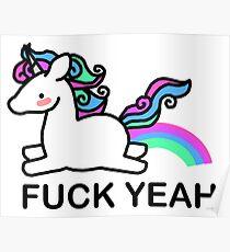 Pastel coloured unicorn Poster