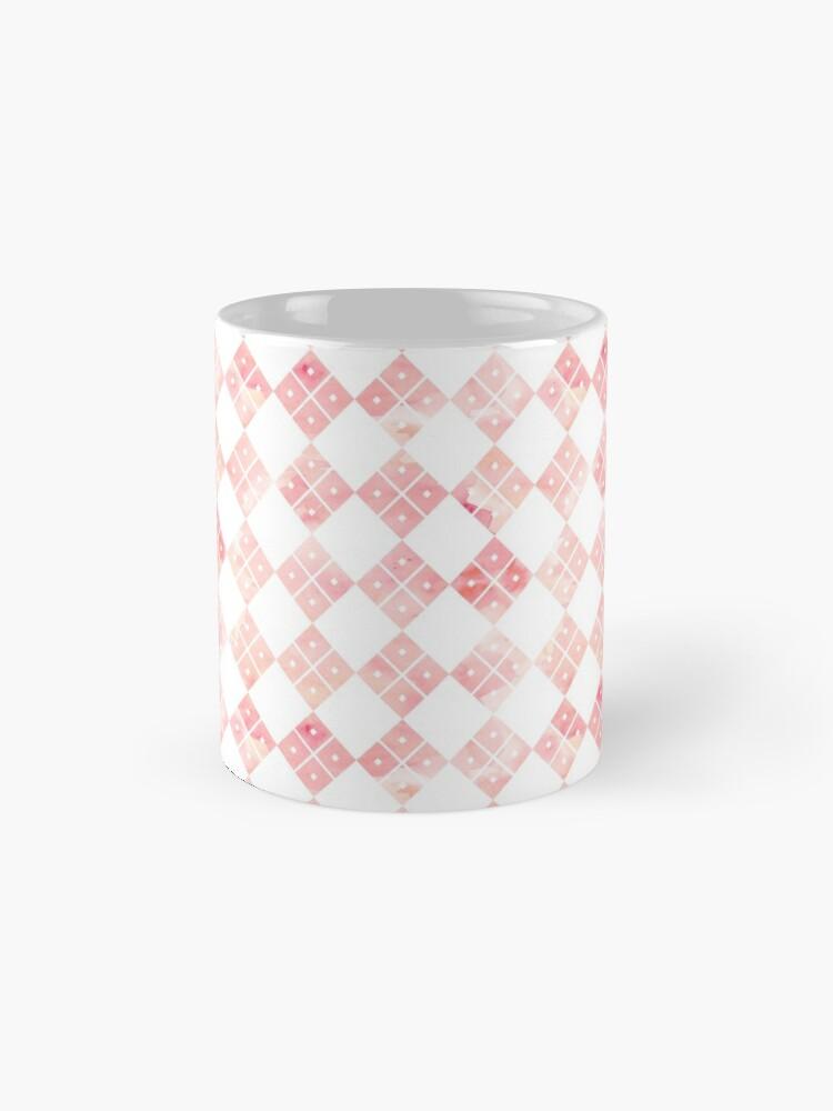 Alternate view of Pink Chinese check pattern Mug