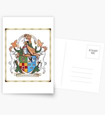 The Four Provinces of Ireland Coat of Arms Postcards