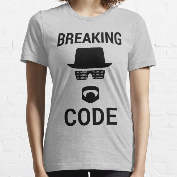 Breaking Code - Black Design for Computer Security Hackers Essential T-Shirt