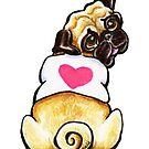 Sweetie Pug by offleashart