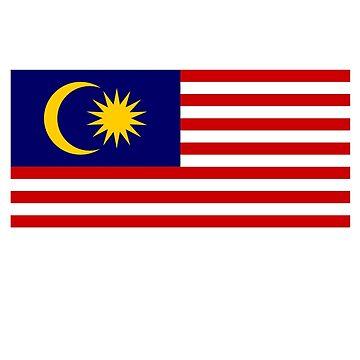 Malaya, Malayan, Malaysian Flag, Flag of Malaysia, Stripes of Glory by TOMSREDBUBBLE