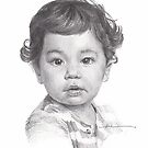 baby boy drawing by Mike Theuer