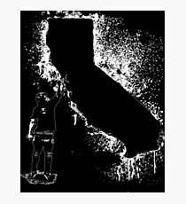 Cali tagger outline  Photographic Print