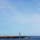 Faro Green Lighthouse Seascape by jezkemp