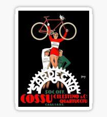 SARDEGNA: Vintage Bicycle Advertising Print Sticker