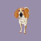 Gus redtick coonhound by VieiraGirl