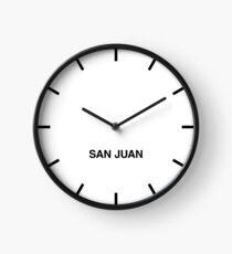 San Juan Time Zone Newsroom Wall Clock Clock