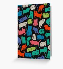 Cool Cats Greeting Card