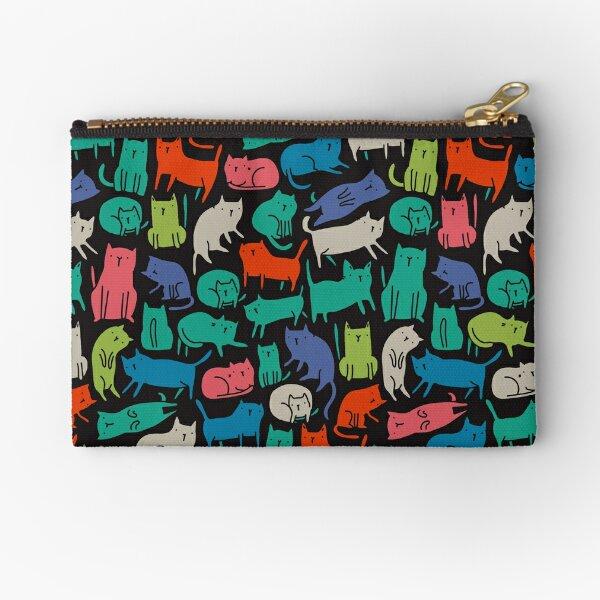 Cool Cats. Funny cute colorful pet design. Zipper Pouch