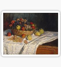 Claude Monet - Apples and Grapes  Sticker