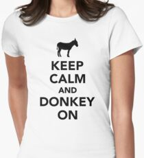 Keep calm and Donkey on Womens Fitted T-Shirt