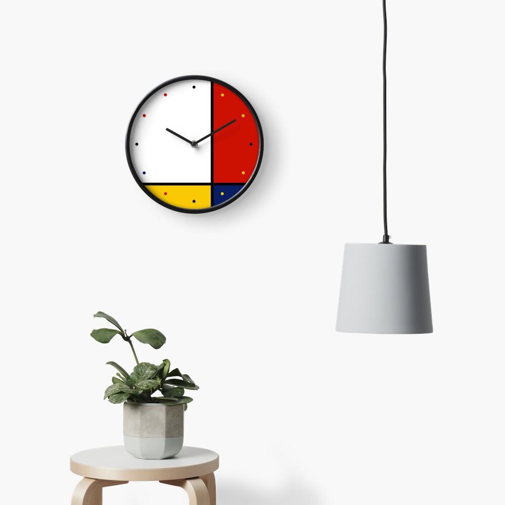 Mondrian Style Abstract Art Reloj