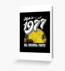 Made in 1977 All Original Parts 40th Birthday Gift Greeting Card