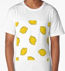 lemon seamless doodle pattern Long T-Shirt
