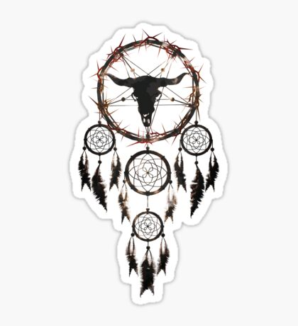 Summoning circle pentagram - Dreamcatcher Glossy Sticker