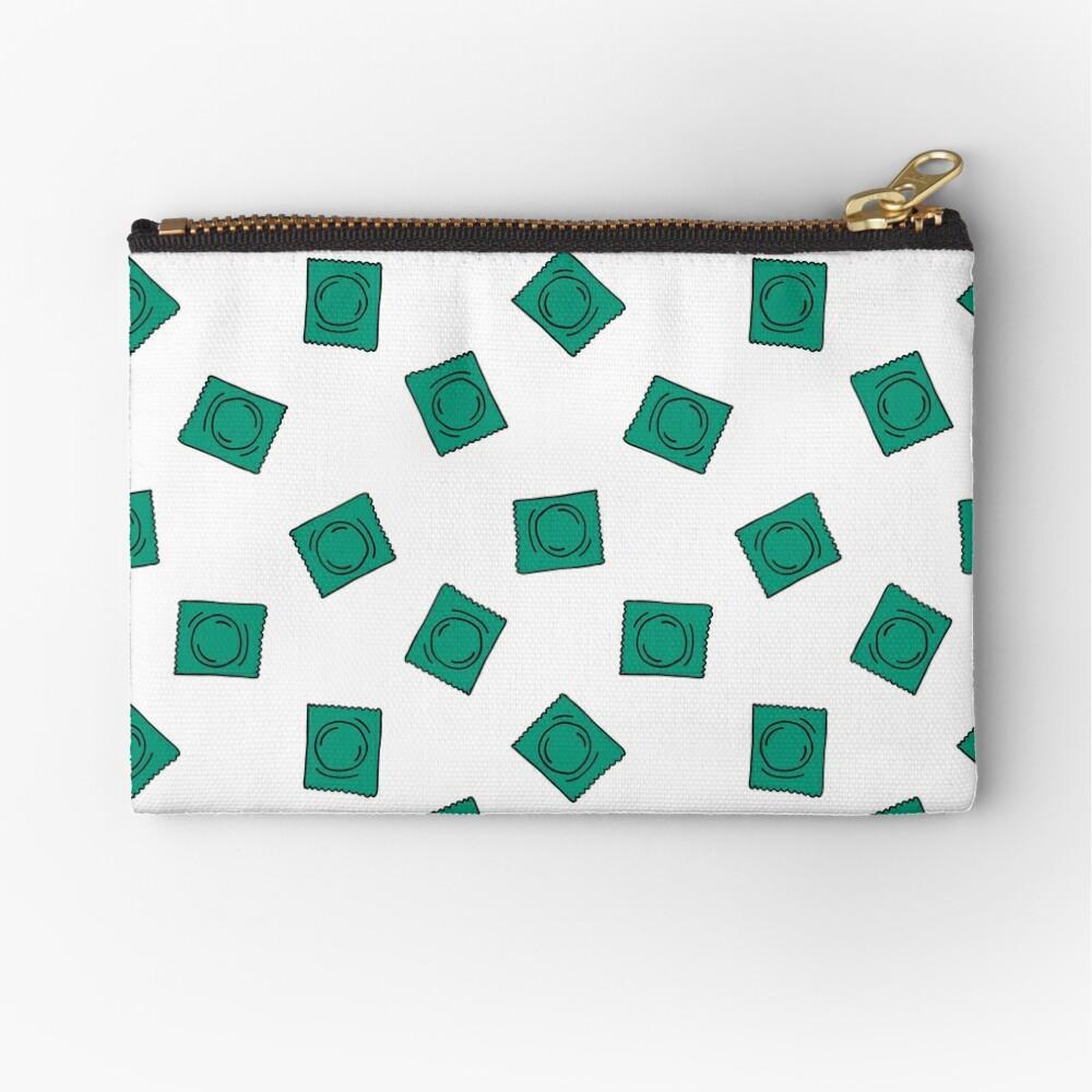 condom seamless doodle pattern Zipper Pouch