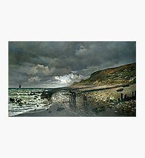 Monet - La Pointe de la Hève at Low Tide, 1865 Photographic Print