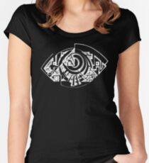 EYE 3D  Women's Fitted Scoop T-Shirt