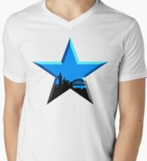 Geordie Star Men's V-Neck T-Shirt