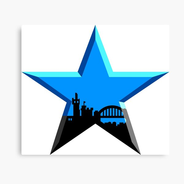Geordie Star Canvas Print