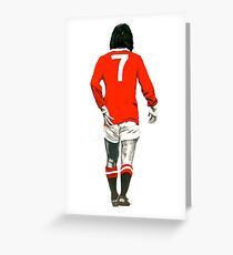 Gorgeous George Best Tribute Manchester United No.7 Greeting Card