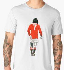 Gorgeous George Best Tribute Manchester United No.7 Men's Premium T-Shirt