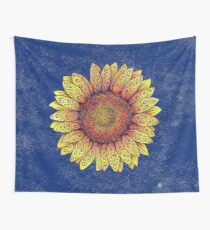 Swirly Sunflower Wall Tapestry